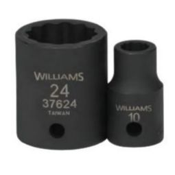 Williams JHW37925 Impact Socket Set 1/2-inch Drive 10 Piece Metric 12-Point