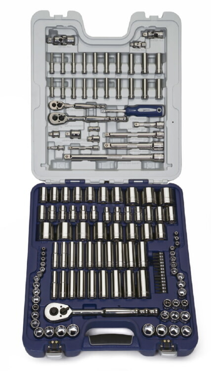 138 Piece 1/4 inch, 3/8 inch, 1/2 inch Drive SAE and Metric - Williams 50612A