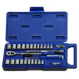 27 Piece 1/4 inch Drive Socket and Drive Tool Set - 6-Point - Williams 50661A