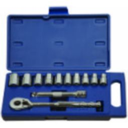 12 piece 1/2 inch Drive Socket and Drive Tool Set - Williams 50669