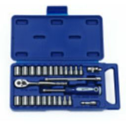 Williams JHW50672A 27 Piece 1/4' Drive Socket and Drive Tool Set - 12-Point