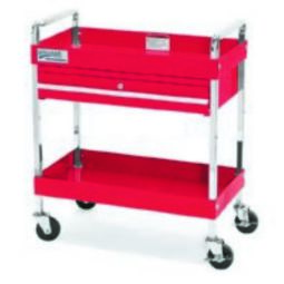 2 Drawer 30 inch Service Cart With Locking Drawer, Red - Williams 50723