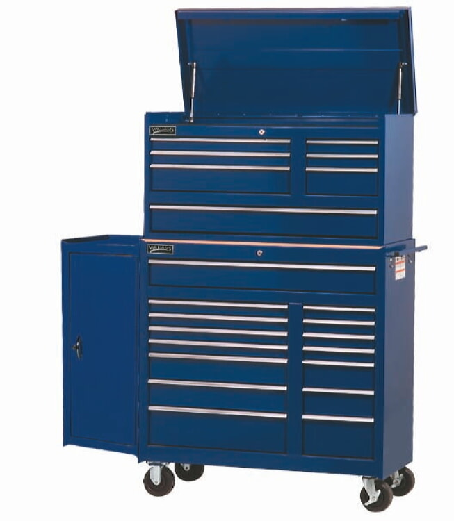 Williams 50865BL 7 Drawer 42 inch Commercial Top Chest Blue
