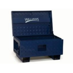 Williams 50954 Job Site Boxes - 48 inch W X 24 inch D X 28 3/8 inch H - Black Only
