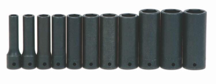 "3//8/""6Pt Deep Impact Supertorque Socket 1//2/""Drive Black Industrial USA 14-612"