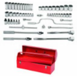1/2 inch Drive Socket/Tool Set,12 Point, 57 Piece with Tool Box - Williams WSS-57TB