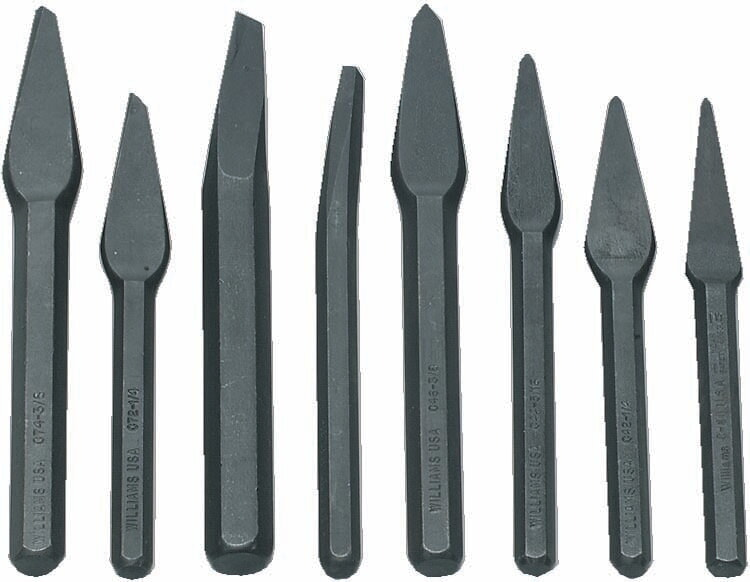 Williams CS-8 8 Piece Punch & Chisel Set (Roll)