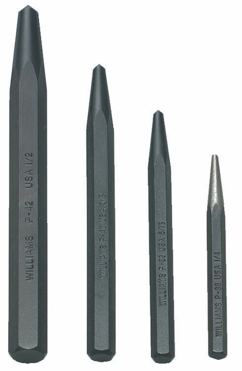 Williams PS-4 4 Piece Center Punch Set (Roll)