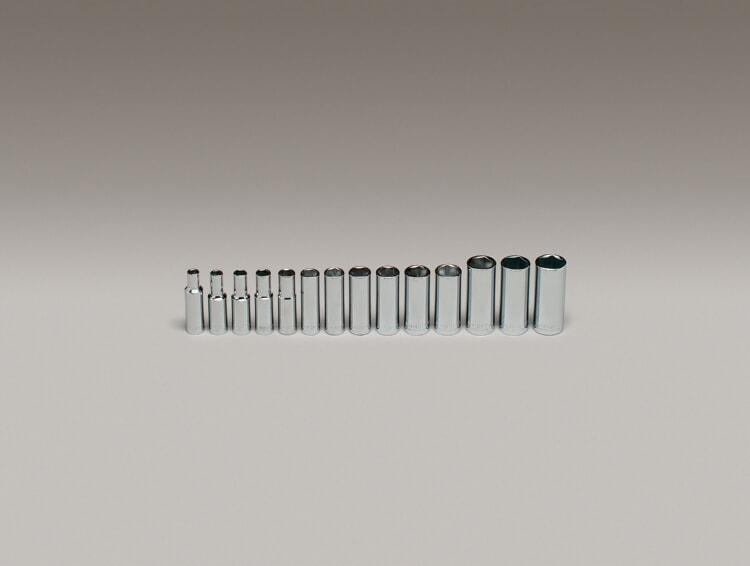 Deep Metric Socket Set 6mm 19mm 14-Piece Wright Tool 355 3//8 Drive