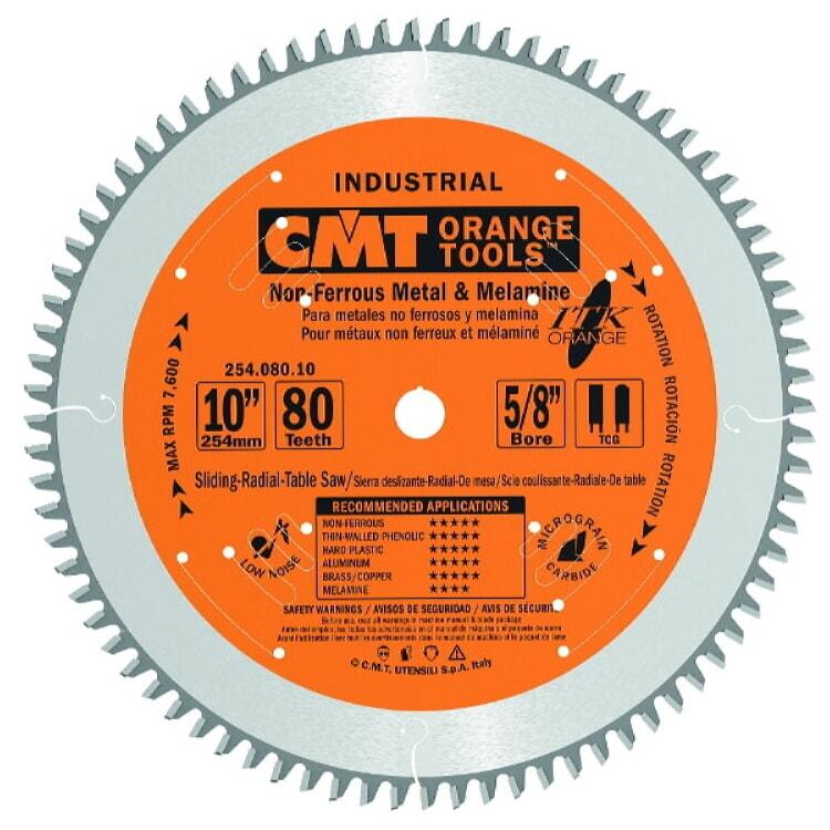 Cmt Orange Tools 254 080 10 Itk Non Ferrous Amp Melamine 10