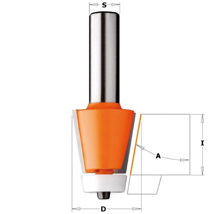 CMT Orange Tools 880 551 11 Solid Surface Bevel Bowl Bit
