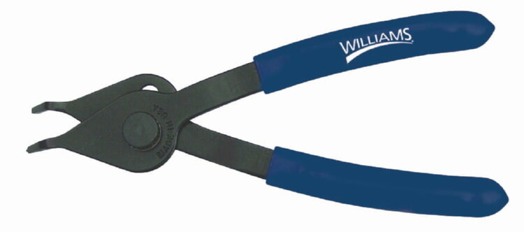 Williams PL-1621 Snap Ring Pliers - 0.038-inch, 45 degree tip