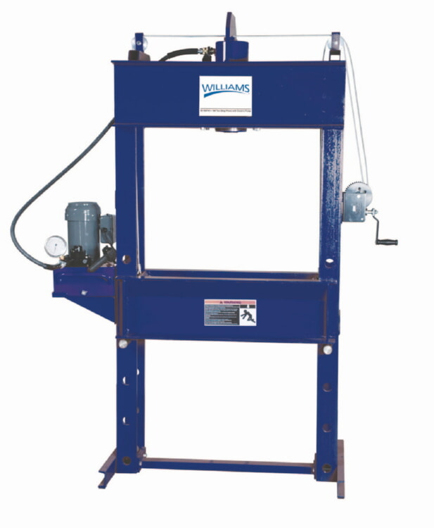Williams 9E55T13 55-Ton Shop Press, Electric Pump, 13'' Stroke