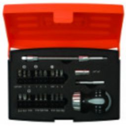 Bahco 808050S-22 22-Piece Stubby Ratchet Screwdriver Set