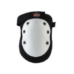 Ergodyne ProFlex 315HL Long Textured White Cap Knee Pad - Hook/Loop
