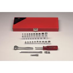 Wright Tool 223 1/4-inch Drive 25 Pieces Standard Socket Set 6-Point