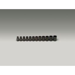 Wright Tool 460 1/2-inch Drive 12 Pieces Standard Metric Impact Socket Set 6-Point