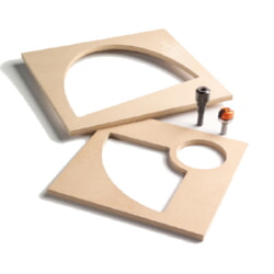 CMT Orange Tools TMP-011 MDF Templates for Bowl & Tray System