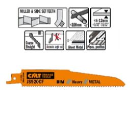 CMT Orange Tools JS920CF-5 5 Recip Saw Blades for Metals (Bim) 6