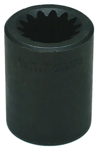 Wright Tool 5993 #5 Spline Drive 13/16-inch Square Impact Socket