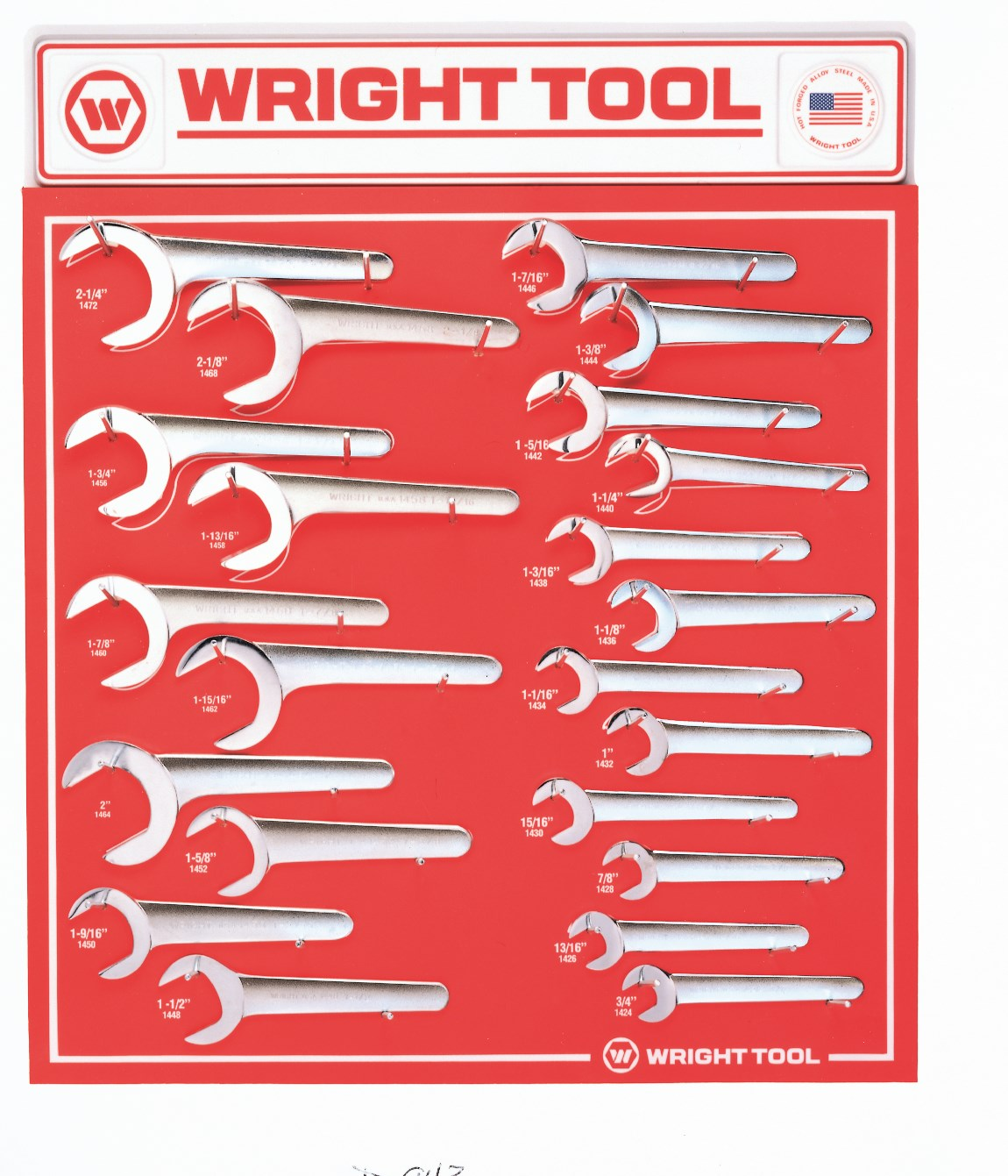 D943 22 Piece Fractional Service Wrenches - Wright Tool