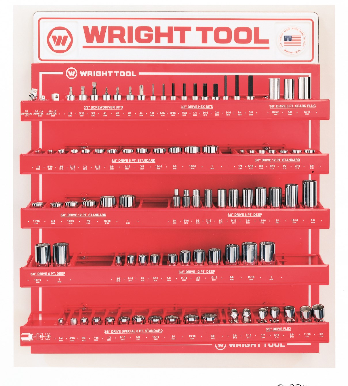 Wright Tool D948 40 Piece 1/2-inch Drive 12-Point Standard and Deep Sockets