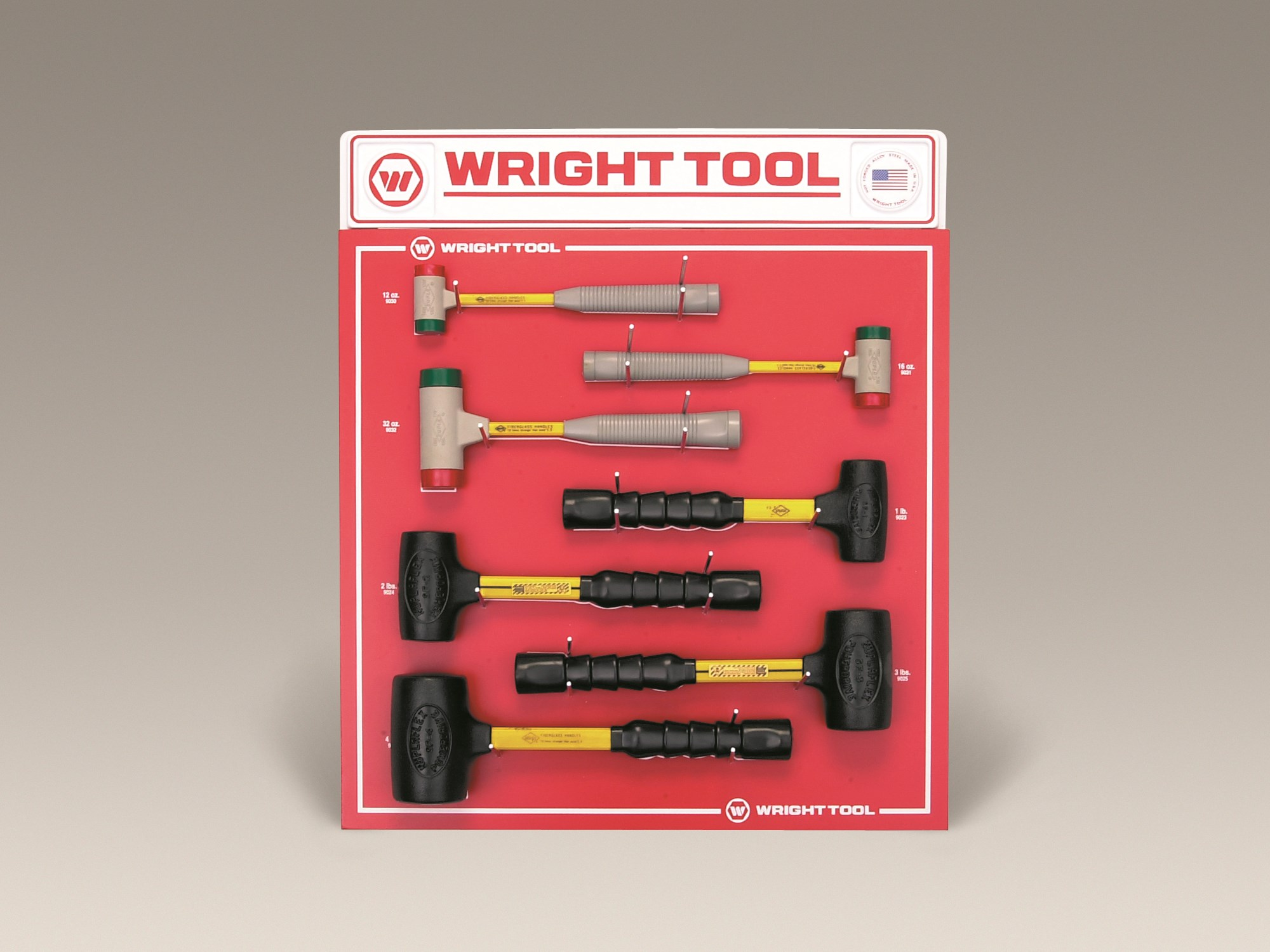 D963 7 Piece Soft Face & Dead Blow Hammers - Wright Tool