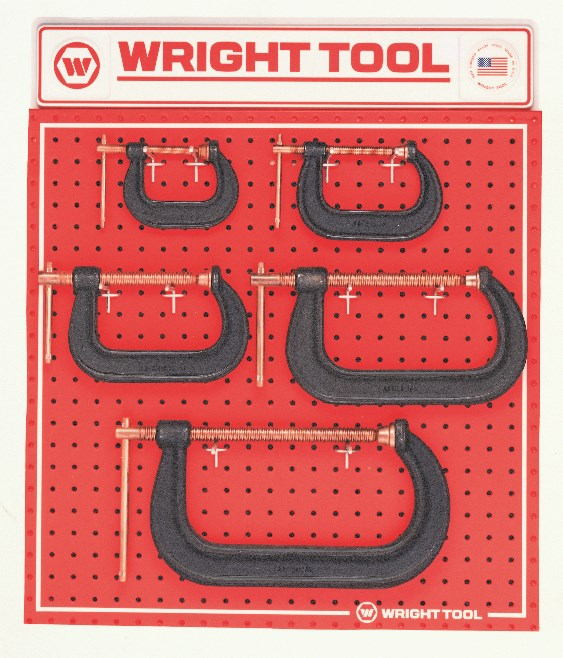 D971 5-Piece C-Clamps - Wright Tool