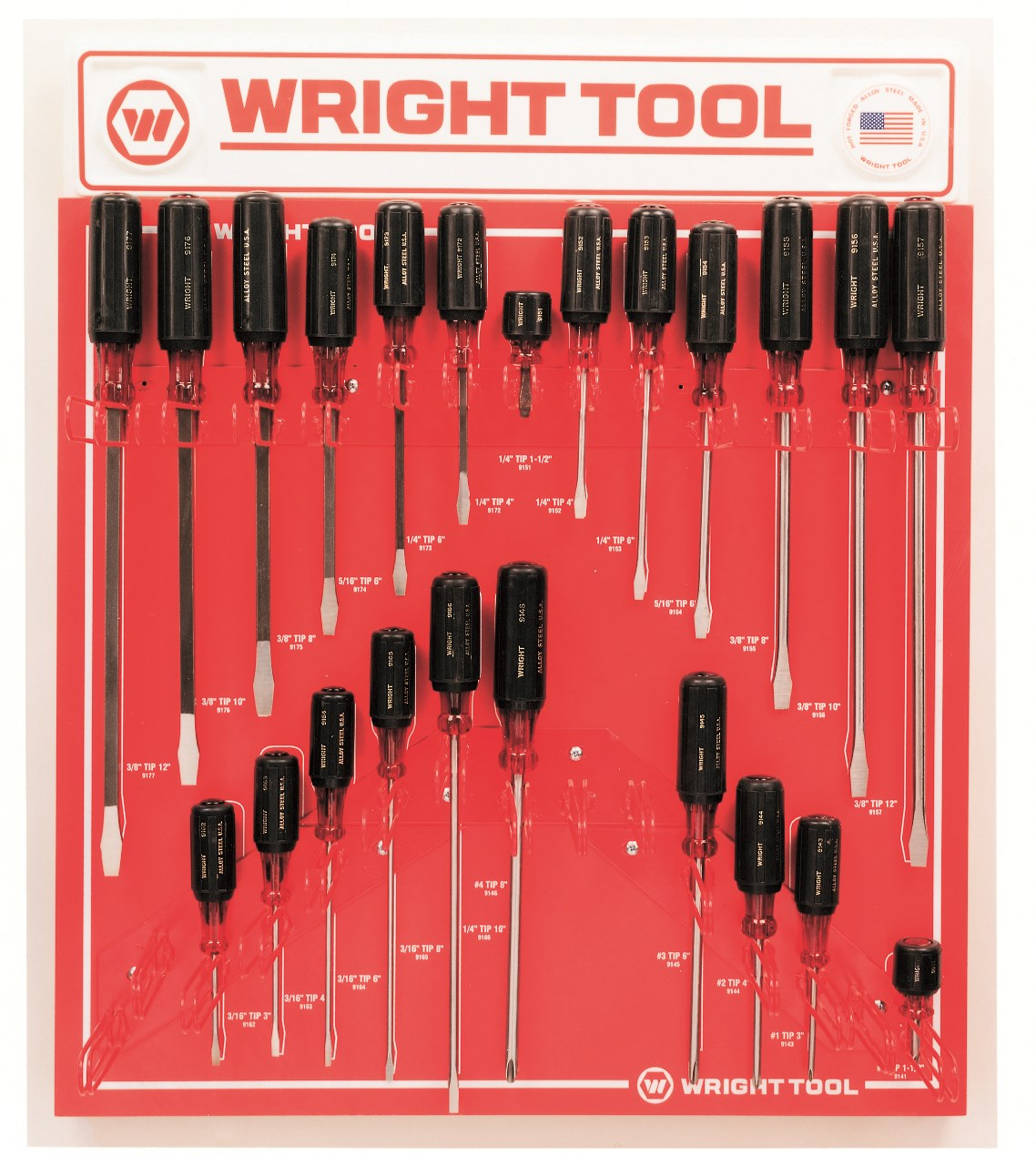 23 Pc Large Cushion-Grip Handle Screwdrivers