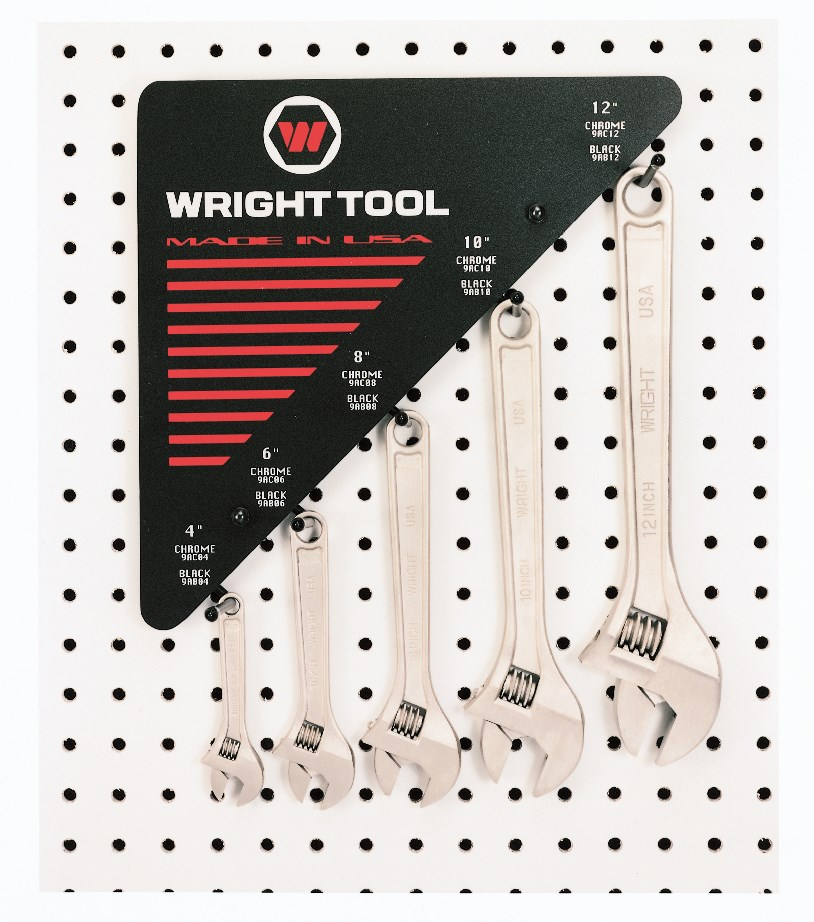 30 Piece Adjustable Wrenches 6 of Each size - 12 inch Wide Display - Wright Tool D975