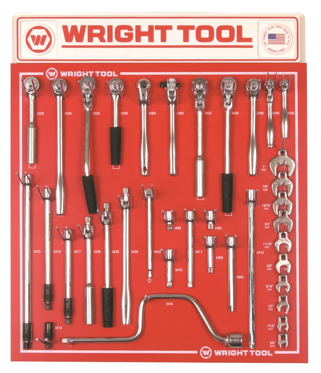 Wright Tool D983 34 Piece 3/8-inch Drive Handles & Attachments