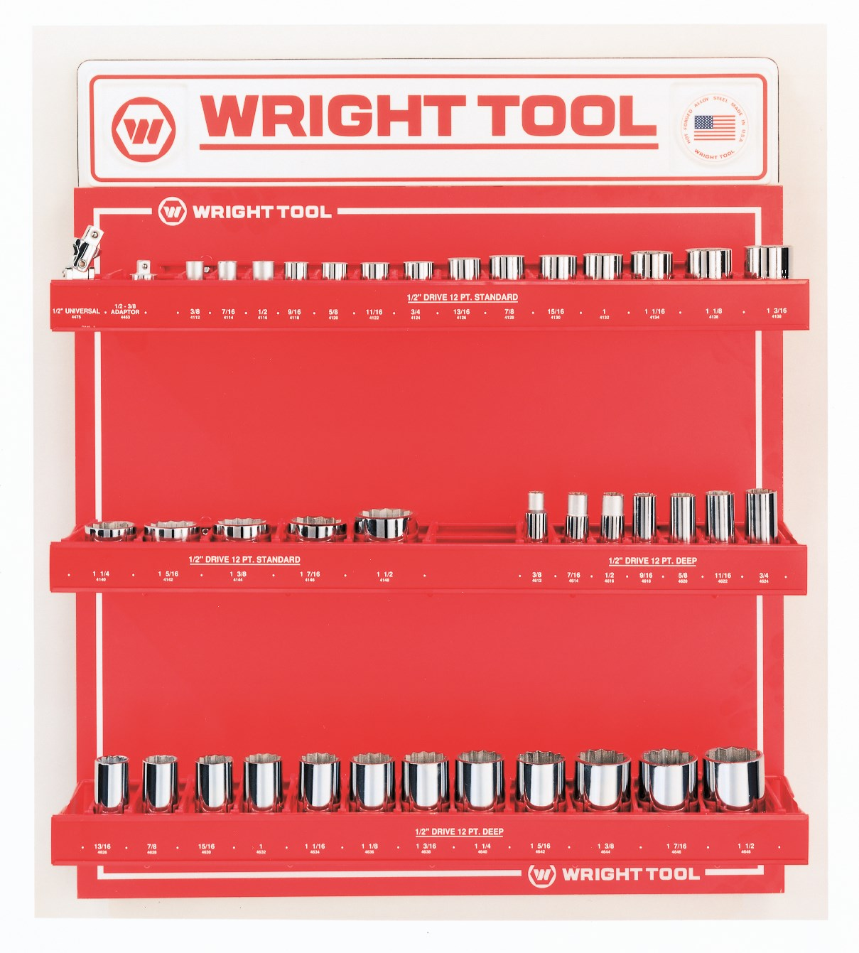 Wright Tool D984 91 Piece 3/8-inch Drive 6 & 12-Point Sockets