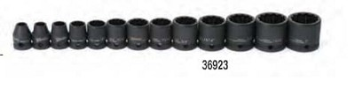 Williams JHW36923 Impact Socket Set 3/8 Drive 13 Piece Standard 12-Point METRIC