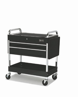 "Williams 50721  3 Drawer 34"" Roll Cart Black"