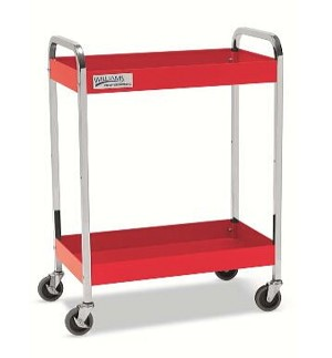"Williams 50722 2 Drawer 30"" Service Cart, Red"