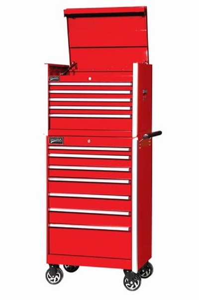 Williams 50873 5 Drawer 27 inch Commercial Top Chest, Red