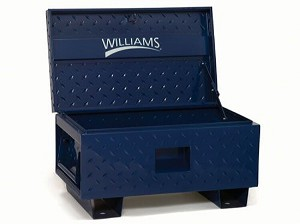 Job Site Boxes - 42 inch W X 20 inch D X 23.4 inch H - Blue Only - Williams 50951