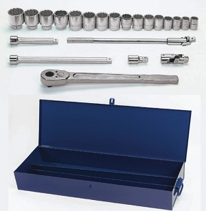 "Williams WSH-22 3/4"" Drive Socket/Tool Set,12 Point, 22 Pieces"