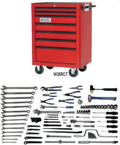 Williams WSC-102TB Basic Machine Repair Set With Tool Box - 102 Pieces