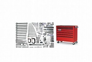 Williams WSC-172TB Heavy Maintenance Service Set With Tool Box - 172 Pieces