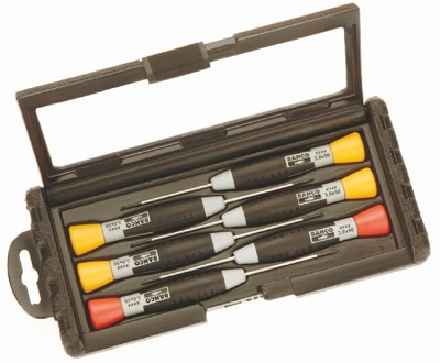 Bahco 706-3 Precision Screwdriver Set 4 Slotted & 2 Pozidriv